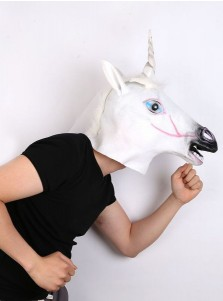 Cute Unicorn Headgear Horse Head Halloween Party Mask