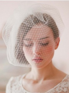 Two-tier Blusher Veils