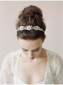 Ladies Alloy Headpieces with Crystal and Artificial Flowers