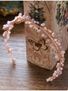 Pink Luxury Crystal Alloy Headpiece with Rhinestone