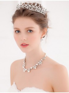Luxury Alloy Tiaras with Crystal