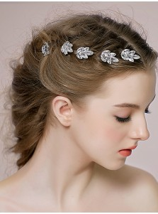 Ladies Pretty Crystal Hairpins (Set of 2)
