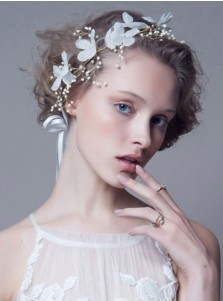 Gorgeous Headbands with Imitation Pearls and Artificial Flower