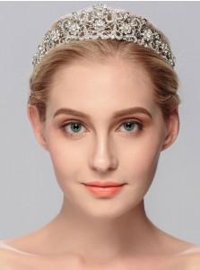 Ladies Gorgeous Rhinestone Tiara With Crystal