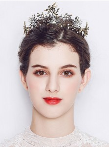 Baroque Stylish Alloy Tiara With Crystal