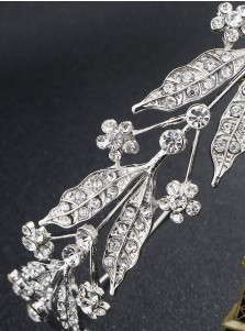 Ladies Simple Alloy Tiara With Crystal
