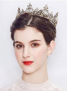Baroque Stylish Alloy Crown With Crystal Rhinestone