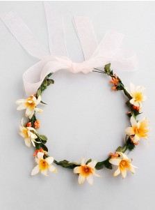 Bridesmaid Head-wear Artificial Flowers Crown for Little Girls