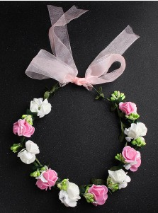 Lovely Little Girls Flowers Crown Artificial Flowers & Feathers