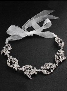 Gorgeous Silver Bridal Headbands with Crystal Wedding Accessory