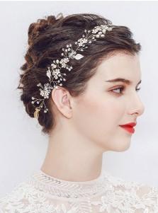 Fashionable Bridal Headbands with Crystal and Imitation Pearls