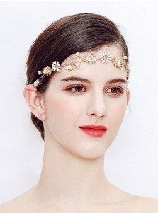 Cute Gold Wedding Accessory Bridal Headpieces with Pearls