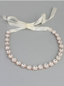Bridal Rose Gold Alloy Headpieces with Crystal