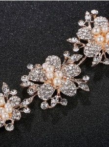 Fashionable Wedding Accessory with Crystal and Imitation Pearls
