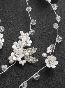 Bridal Headbands wedding Accessory with Imitation Pearls and Crystal