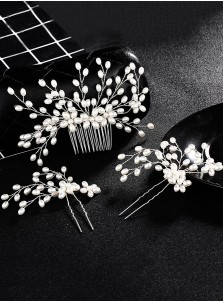 Wedding Accessory Imitation Pearls Hairpins and Combs & Barrettes(Set of 3)