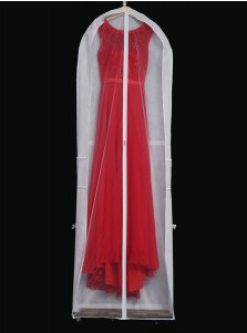 White Non-woven Gown Length Garment Bags with Handles