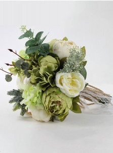 Green Peonies Bridal Bouquets/Bridesmaid Bouquets