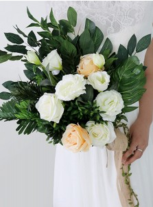 Eye-Catching Emulation Succulent Plant Bridal Bouquets