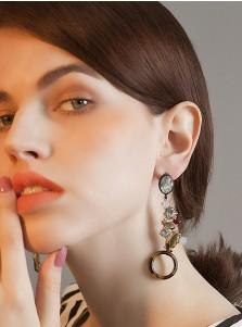 Luxury Boho Alloy Earring with Crystal