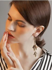 Beautiful Copper/Zinc Acrylic Long Earring