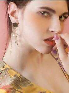 Tassels Zinc Alloy Earring with Imitation Pearls