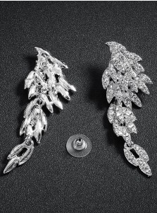 Beautiful Angel Wings Dangle Bridal Earrings