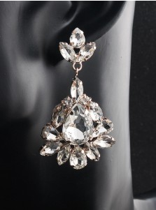 Nice Crystal Dangle Bridal Earrings for Women
