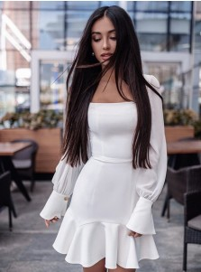 Ruffle Dress With Long Sleeve