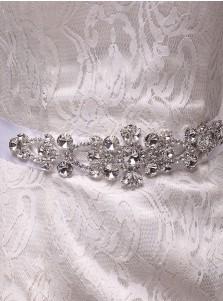 Stylish/Beautiful Satin Sash with Beading Crystal