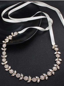 Gorgeous Alloy Sash with Crystal and Rhinestones