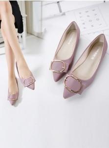 Lavender Pumps Plat Heel Dance Party Shoes
