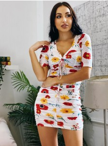 Floral Printed Bodycon Skirt