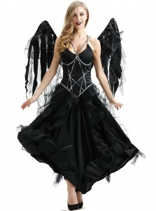 Dark Sexy Halloween Angel Costume Performance Dress