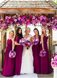 Hot Sale Spaghetti Straps Floor-Length Purple Bridesmaid Dress with Pleats