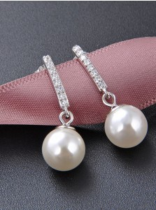 Fashion Luxury Pearl Bridal Earrings with Crystal