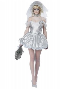 Halloween Female Vampire Horror Ghost Bride Party Prom Cosplay Dress