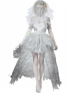 Halloween Female Vampire Horror Ghost Bride Party Prom Cosplay Dress