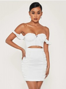 2 Piece Summer White Dress