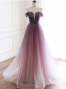 Gradient Long Prom Dress