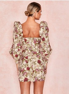 Fashion Bodycon With Floral Printed