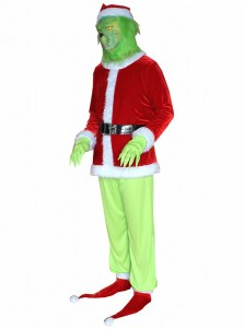 Christmas Green Furry Grinch Cosplay Costume