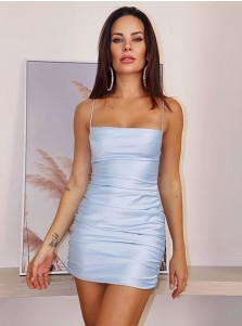 Sheath Light Blue Homecoming Dress