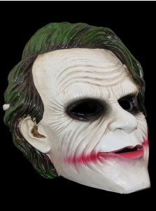 Horror Old Man Clown Joker Green Hair Halloween Mask