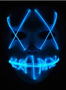 The Purge 3 Election Year Anarchy Lady Liberty Mask Light Up Halloween Mask