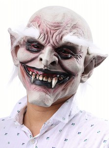 Mens Halloween Masks Really Scary Vampire Halloween Mask with White Eyebrow