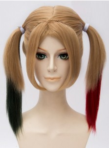 Harley Quinn Cosplay Straight Wig Suicide Squad Halloween Cosplay