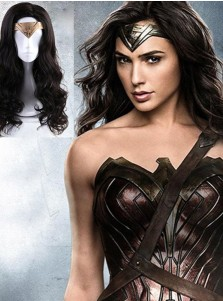 Wonder Woman Diana Ringlet Wig Halloween Cosplay