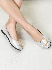Women's Pump Plat Heels Silver Dance Party Shoes