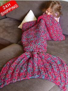 Super Soft Crocheted Sofa Blanket Mermaid Tail Blanket Kids / Adult